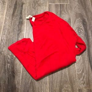 Francesca's red long sleeve tee